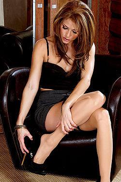Jenni Lee In Black Dress