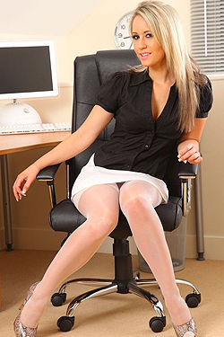 Hot Secretary Stripping In Her Office