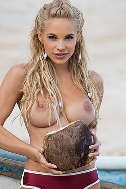 Dani Mathers On The Beach
