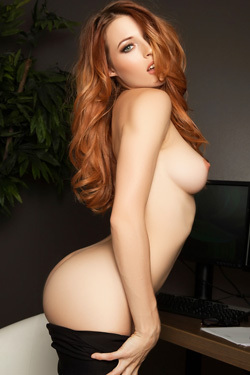 Gorgeous Ginger Playboy Babe Caitlin Mcswain