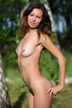 Malu A Is Naked In The Nature